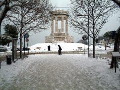 La gradinata del Passetto coperta dalla neve (Foto d'archivio)