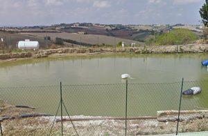 Uno dei laghetti artificiali a Belvedere Ostrense