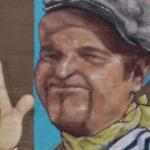 Michele Droghini, in arte Geos, protagonista di uno dei suoi graffiti