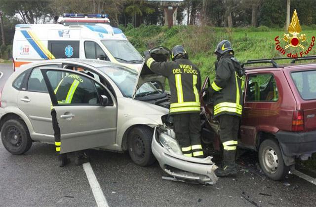 incidente sulla provinciale Arceviese alle Bettolelle di Senigallia