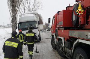 Intervento dei Vigili del fuoco a Serra de' Conti per il maltempo