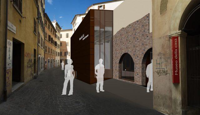 Rendering della nuova aula del Museo della città