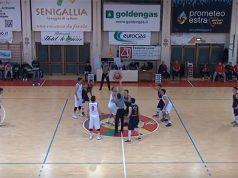 Match di basket tra la Pallacanestro Senigallia e Giulianova