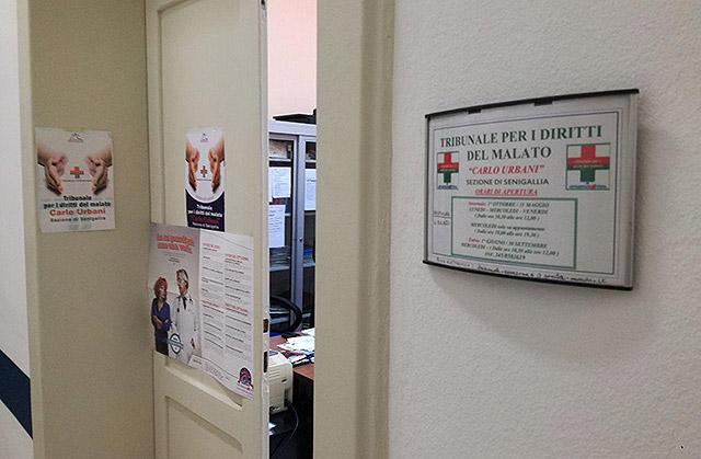 La sede del Tribunale del Malato presso l'ospedale di Senigallia