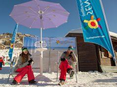 Vetrina promozionale per la spiaggia di velluto agli Xmasters winter tour