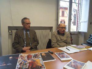 Luca Butini e lo storico Giorgio Mangani