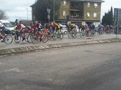 Il passaggio jesino dei ciclisti della Tirreno-Adriatico lo scorso marzo