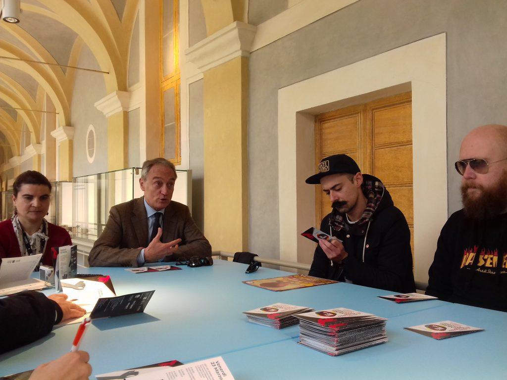 Simona Cardinali, Luca Butini, Giacomo monachesi e Andrea Refi presentano le iniziative per la XIV giornata d'azione contro il razzismo