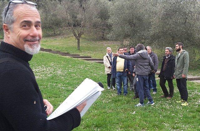 Giorgio Massera durante le prove