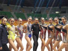 Da sinistra le ginnaste Girelli, Corradini, Torretti, Baldassarri, Mogurean, Duranti, Basta, Cicconcelli, Centofanti