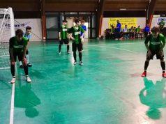 Gli Juniores del Real Fabriano calcio a 5 in una azione difensiva