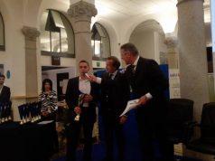 Daniel Mancinelli tra i piloti premiati nella sede dell'Aci a Milano