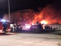 Incendio a Senigallia, foto per gentile concessione di Riccardo Antognoni