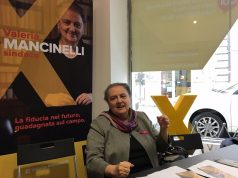 La candidata sindaco Valeria Mancinelli