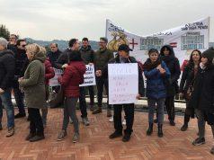 Manifestazione in Regione contro la Pdl 145