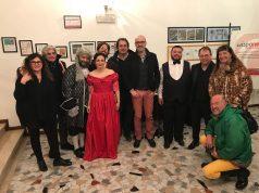 Il sindaco Costantini con l'assessore alla cultura Favi e Villa InCanto