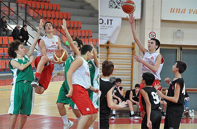 I due giovani atleti della Pallacanestro Senigallia Leonardo Tombari e Christian Ciacci