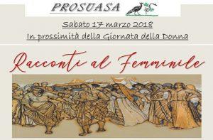 La locandina dell'iniziativa per la festa delle donne a Castelleone di Suasa