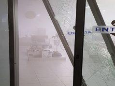 La vetrata sfondata e il nebbiogeno