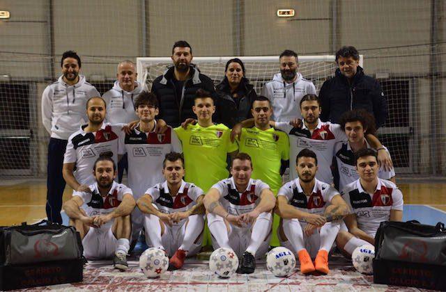 La formazione del Cerreto calcio a 5 impegnata nel campionato di serie C2 nella stagione 2017/18
