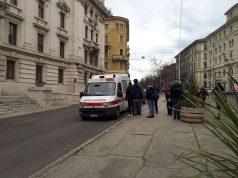 La Croce Rossa sul posto dell'incidente