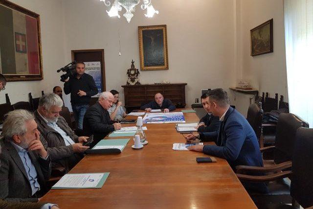 Il tavolo dei relatori della conferenza stampa