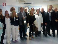 I presenti alla cerimonia che si è svolta al centro antidiabetico dell'Inrca