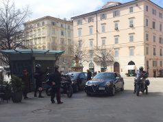 La scorta dei carabinieri per l'udienza in Corte di Appello