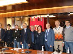 Da sinistra, D'orazio, Carbonari, Sbaffi, Longhi, Crocetti, Passeri, Cataldi, Corsini e Seri