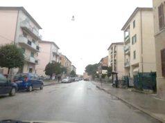 Via San Giuseppe interessata dal passaggio della carovana ciclistica della Tirreno - Adriatica