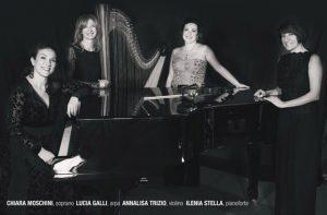 Il quartetto tutto femminile della Scuola di musica Bettino Padovano