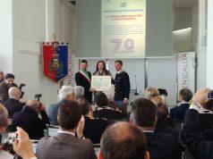 Il sindaco Mangialardi, il prefetto Cinzia Guercio e Giuseppe Tranzillo, al comando degli Stabilimenti di via Sanzio dal 2015