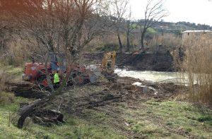I lavori sul fiume Misa al Vallone di Senigallia