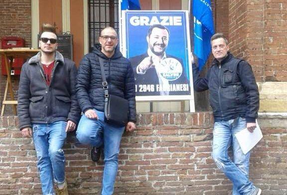 La Lega in piazza a Fabriano