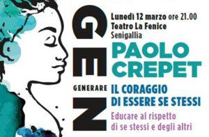 """La locandina dell'incontro """"Il coraggio di essere se stessi"""" con Paolo Crepet"""