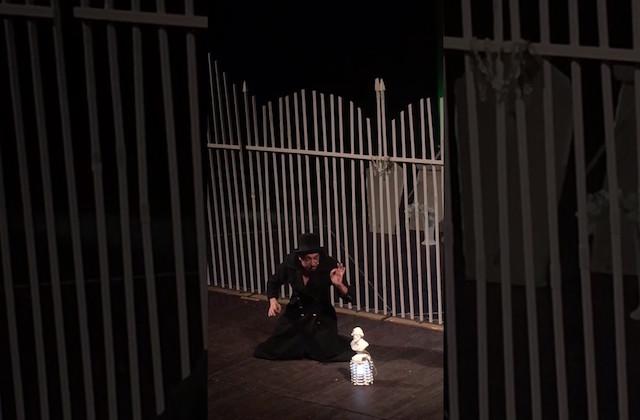 """Un momento dello spettacolo """"Aida e il bambino che sognava l'Opera"""""""