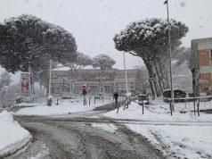 L'ospedale di Senigallia sotto la neve