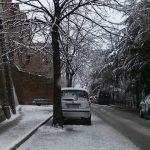 Neve a Ostra Vetere: le strade innevate