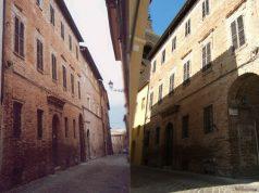 Palazzo Gambelli a Ostra Vetere, prima e dopo l'intervento di riqualificazione