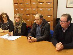 i consiglieri di opposizione Palma, Martinangeli, Sartini e Da Ros
