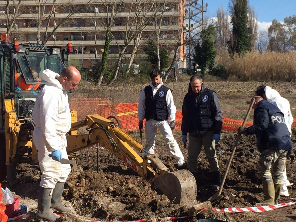 Gli scavi vicino all'Hotel House