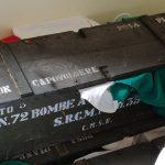 Casse di munizioni e altri ordigni recuperate dopo la seconda Guerra mondiale