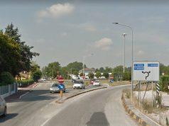 La strada provinciale 360 Arceviese a Senigallia, alla rotatoria d'innesto con la sp 12 Corinaldese