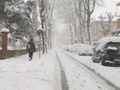 Neve e ghiaccio sulle strade di Senigallia