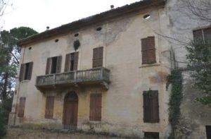 La villa Cesarini Duranti a Corinaldo nello stato attuale