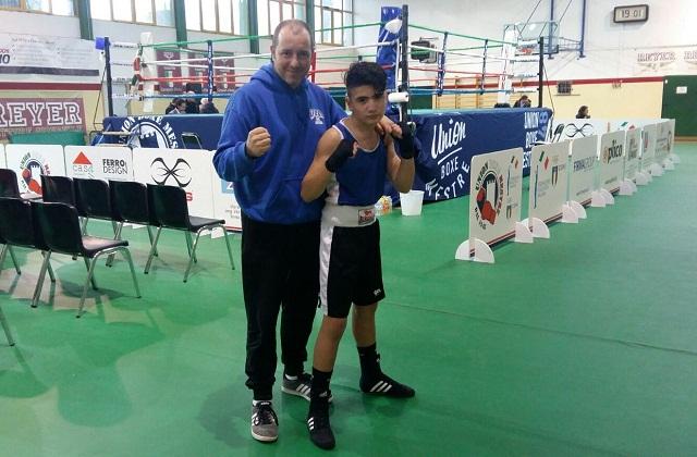 Coach Marco Cappellini con Alex Iengo