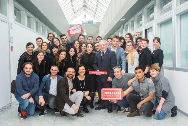 vo Colombini, presidente Gruppo Colombini con i docenti di Poliarte Rossana Lucchetta (interior/design) e Gabriella Santini (Sociologia della comunicazione)