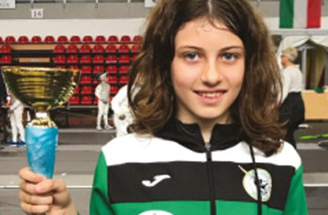 Margherita Frulla campionessa regionale di Fioretto nella categoria Bambine
