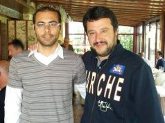 Stefano Caricchio, candidato sindaco della Lega a Falconara, e Matteo Salvini
