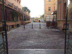 La partenza dell'ambulanza dal Salesi